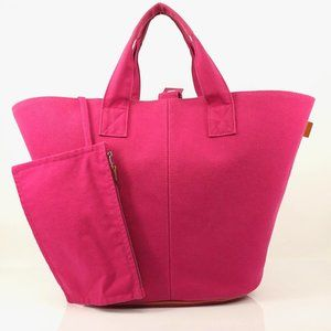 Auth Hermes Pannied Platouge Pm Tote Bag #1968H20